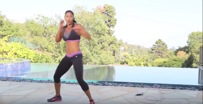 Cardio Kickboxing workout with Jump Rope